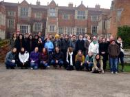Group photo of retreatants and monastics
