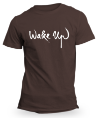 Brown Wake Up T-Shirt
